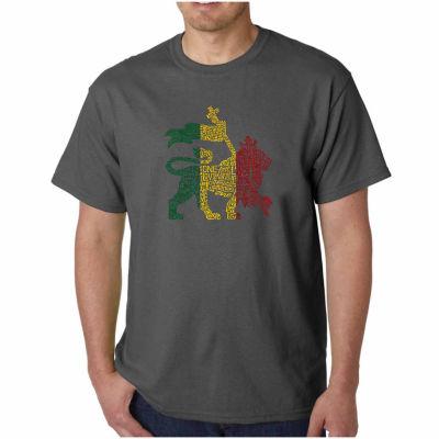 Los Angeles Pop Art One Love Short Sleeve Word ArtT-Shirt