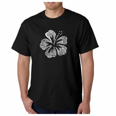 Los Angeles Pop Art Mahalo Short Sleeve Word Art T-Shirt