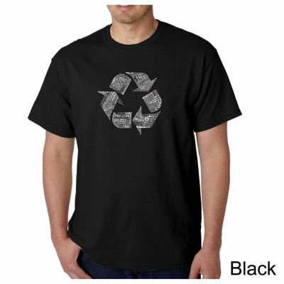 Los Angeles Pop Art 86 Recyclable Products Short Sleeve Word Art T-Shirt