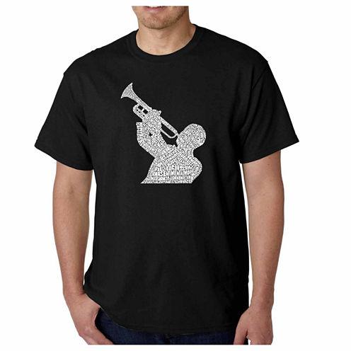 Los Angeles Pop Art Short Sleeve Graphic T-Shirt