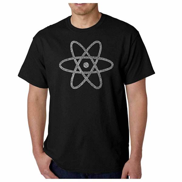 Los Angeles Pop Art Atom Short Sleeve Word Art T-Shirt