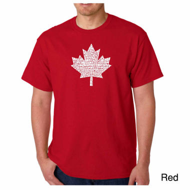 Los Angeles Pop Art Canadian National Anthem ShortSleeve Word Art T-Shirt