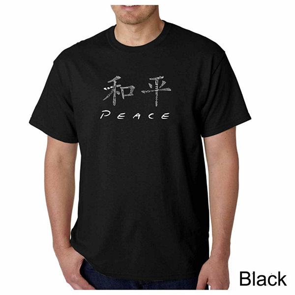 Los Angeles Pop Art Chinese Peace Symbol Short Sleeve Word Art T-Shirt
