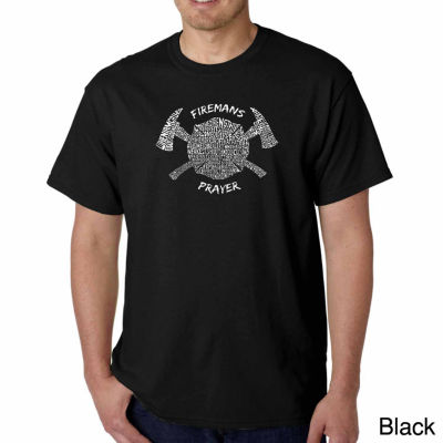 Los Angeles Pop Art Fireman's Prayer Short SleeveWord Art T-Shirt