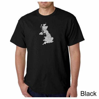 Los Angeles Pop Art God Save the Queen Short Sleeve Word Art T-Shirt