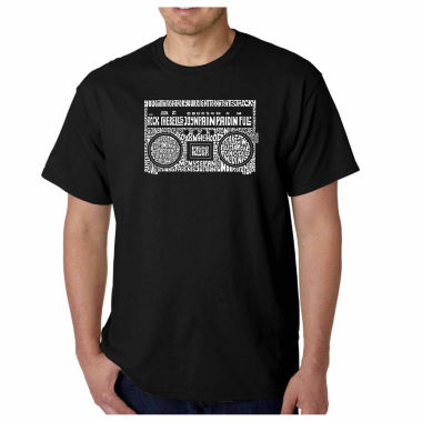 Los Angeles Pop Art Greatest Rap Hits of the 1980's Short Sleeve Word Art T-Shirt
