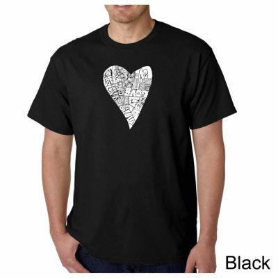 Los Angeles Pop Art Lots of Love Short Sleeve WordArt T-Shirt