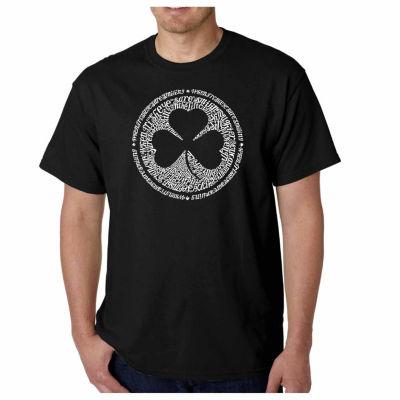 Los Angeles Pop Art Lyrics to When Irish Eyes AreSmiling Short Sleeve Word Art T-Shirt