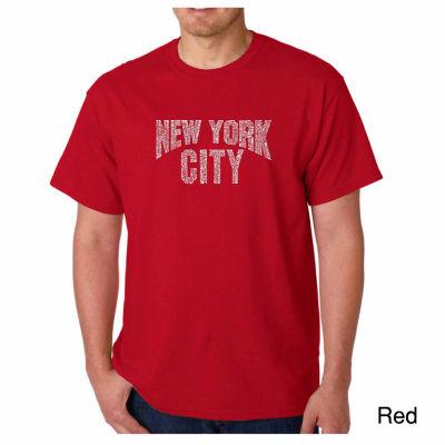 Los Angeles Pop Art NYC Neighborhoods Short SleeveWord Art T-Shirt