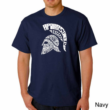 Los Angeles Pop Art Spartan Short Sleeve Word ArtT-Shirt