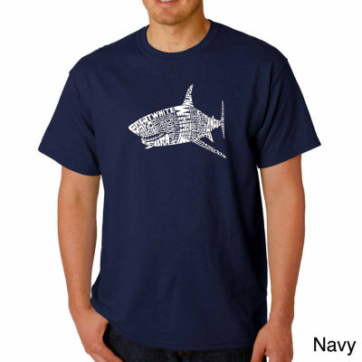 Los Angeles Pop Art Species of Shark Short SleeveWord Art T-Shirt