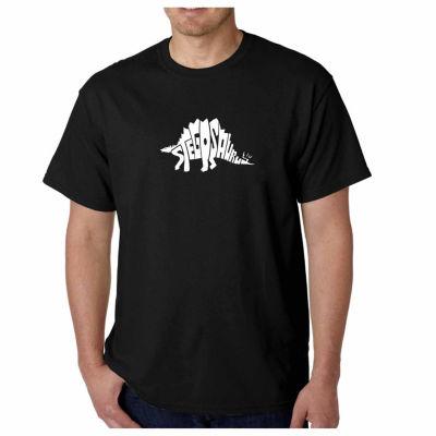 Los Angeles Pop Art Stegosaurus Short Sleeve WordArt T-Shirt