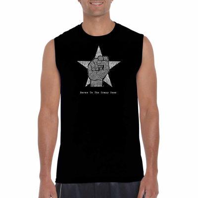 Los Angeles Pop Art Sleeveless Here's to the CrazyOnes Word Art T-Shirt