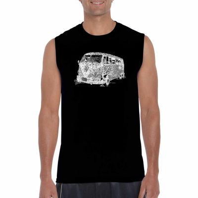 Los Angeles Pop Art Sleeveless the 70's Word Art T-Shirt