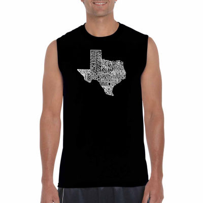 Los Angeles Pop Art Sleeveless the Great State ofTexas Word Art T-Shirt