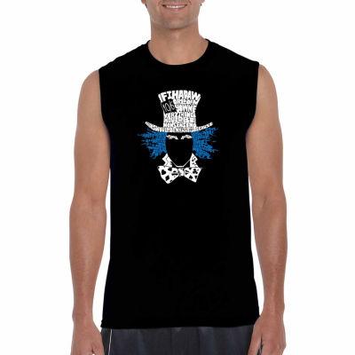 Los Angeles Pop Art Sleeveless the Mad Hatter WordArt T-Shirt