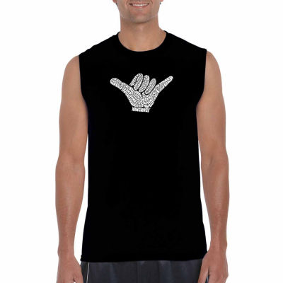 Los Angeles Pop Art Sleeveless Top Worldwide Surfing Spots Word Art T-Shirt