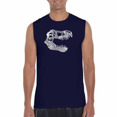 Los Angeles Pop Art Sleeveless Trex Word Art T-Shirt