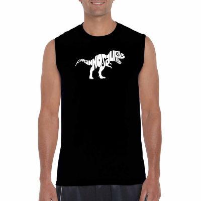 Los Angeles Pop Art Sleeveless Tyrannosaurus Rex Word Art T-Shirt