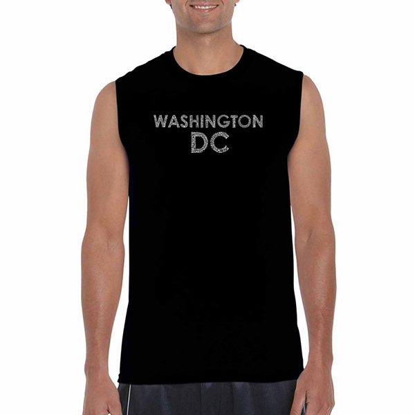Los Angeles Pop Art Sleeveless Washington DC Neighborhoods Word Art T-Shirt