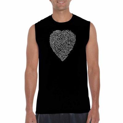 Los Angeles Pop Art Sleeveless William Shakespeare's Sonnet 18 Word Art T-Shirt