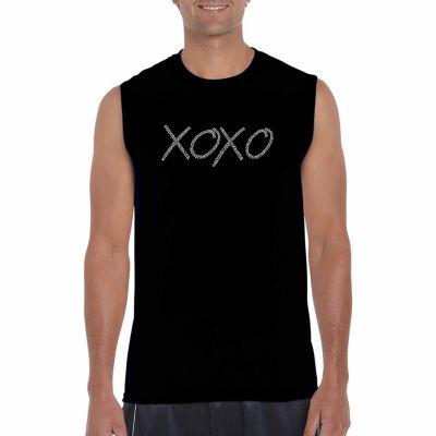 Los Angeles Pop Art Sleeveless Xoxo Word Art T-Shirt