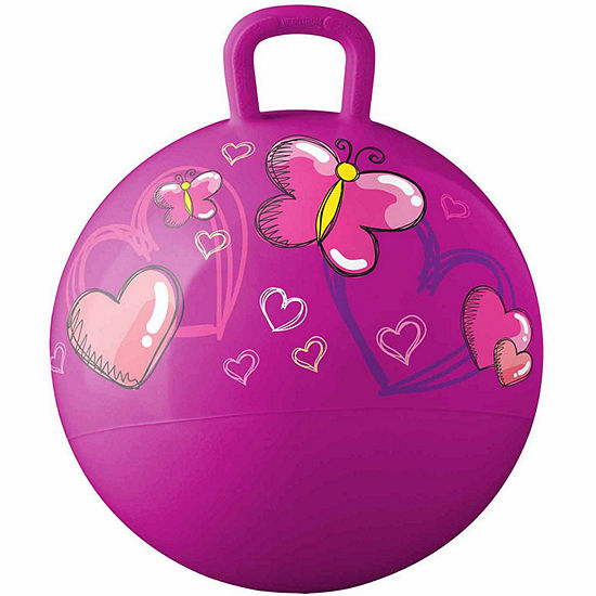 18 In Hopper Hearts And Butterflies Playground Balls