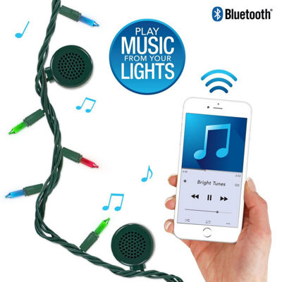 Bright Tunes BRT-200 Indoor/Outdoor Incandescent String Lights with Bluetooth Speakers