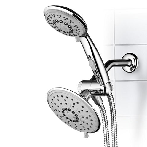 Hydroluxe® 30-Setting Ultra-Luxury 3 way 6-inch Rainfall  Shower Combo with Patented ON/OFF Pause Switch