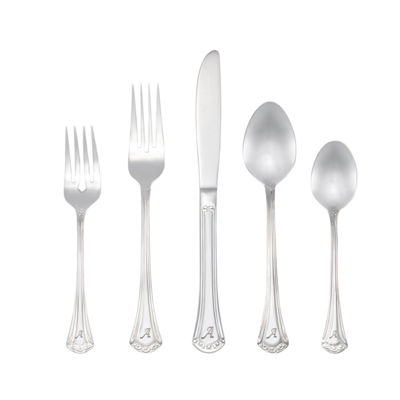 RiverRidge Excelsior 46 Pc Personalized or Solid Flatware Set