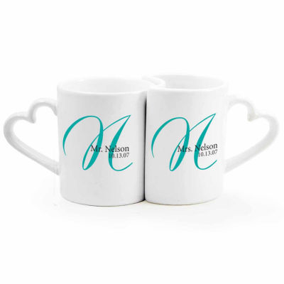 Cathy's Concepts Personalized Initial 2-pc. Coffee Mug