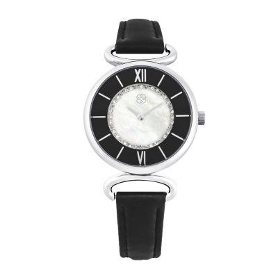 Daisy Fuentes Womens Black Strap Watch-Dg108slbk