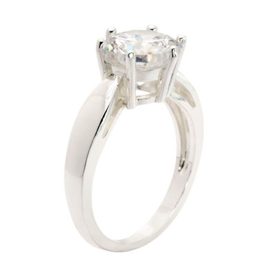 Sparkle Allure Sparkle Allure Womens 4 3/4 CT. T.W. Clear Brass Cocktail Ring