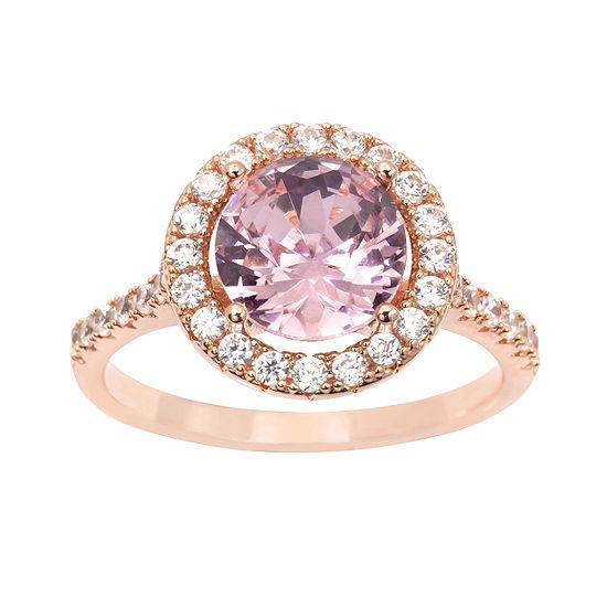 Sparkle Allure Pink 14k Rose Gold Over Brass