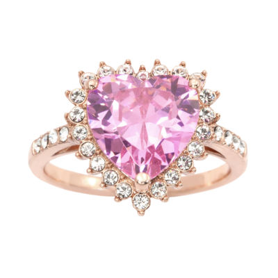 Sparkle Allure Sparkle Allure Womens 5 1/2 CT. T.W. Pink 14k Rose Gold Over Brass Cocktail Ring