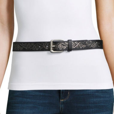 Relic Floral Metallic Belt