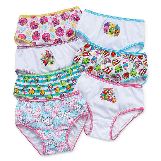 Little Girls 7 Pack Shopkins Brief Panty