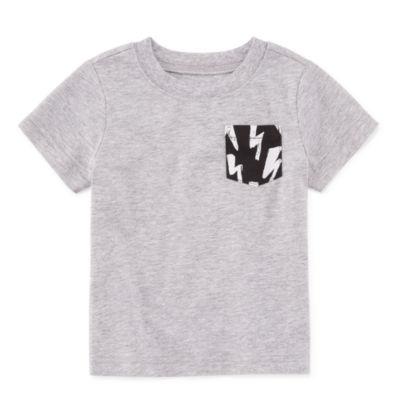 Okie Dokie Short Sleeve Graphic T-Shirt-Baby Boy NB-24M