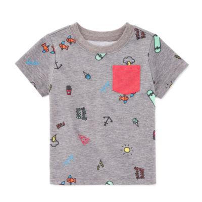 Okie Dokie Graphic Short Sleeve T-Shirt-Baby Boy NB-24M