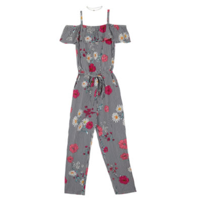 by&by girl 3/4 Sleeve Romper - Big Kid