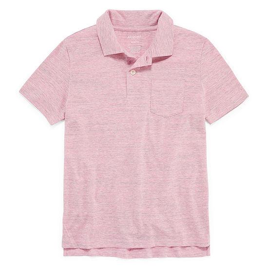 Arizona Boys Spread Collar Short Sleeve Polo Shirt Preschool / Big Kid