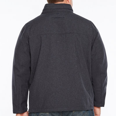 Dockers Stand Collar Softshell Jacket-Big and Tall