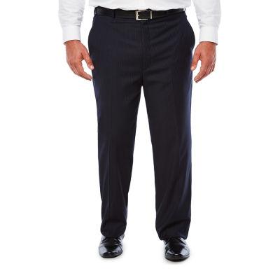 Stafford Travel Navy Twill Suit Pants - Big & Tall