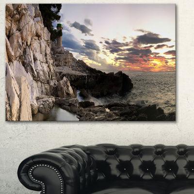 Designart Adiratic Sunset Landscape Photography Canvas Art Print