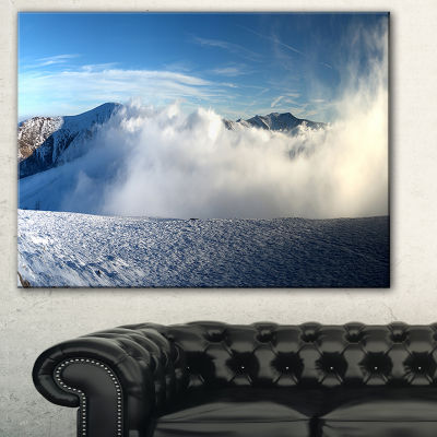 Designart Beautiful Winter Landscape Photography Canvas Art Print
