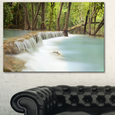 Designart Huai Mae Kamin Waterfall Large Photography Canvas Art Print