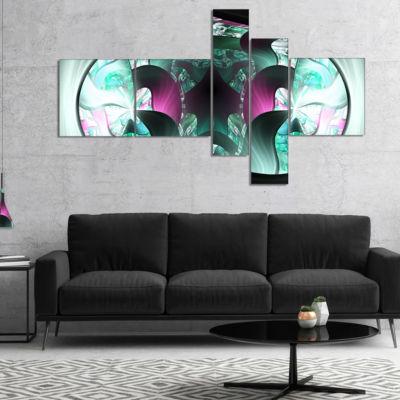 Designart Grey Capsule In Plasma Multipanel Abstract Canvas Art Print - 4 Panels