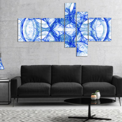 Designart Head Of Iron Knight Multipanel AbstractCanvas Art Print - 4 Panels
