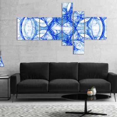 Designart Head Of Iron Knight Multipanel AbstractCanvas Art Print - 5 Panels