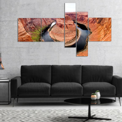 Designart Horse Show At Grand Canyon Multipanel Landscape Photography Canvas Print - 4 Panels